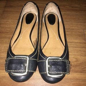 Fossil leather ballet flats